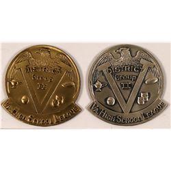 Virginia High School League Sterling Baseball Medals  (112444)