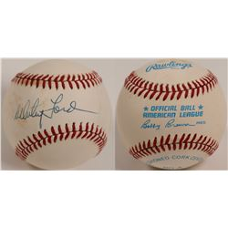 Whitney Ford signed Baseball  (104605)