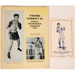 Young Corbett III World's Welterweight Champion Souvenir Program  (112538)