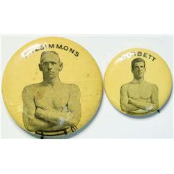 Corbett/Fitzsimmons Boxing Pins  (112529)