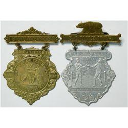 Corbett/Fitzsimmons Souvenir Boxing Pins  (112569)