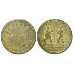Spring & Langan Boxing Medal  (112564)