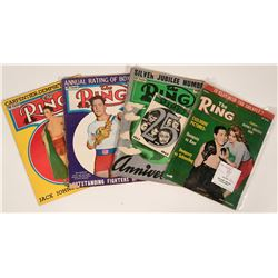Vintage Issues of Ring Magazine  (112534)