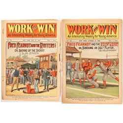"""Work and Win"" Youth Weeklies for Young America (2), Football  (112876)"