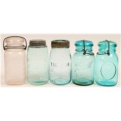 large Size Bottle Lot- Canning Jars etc  (114275)