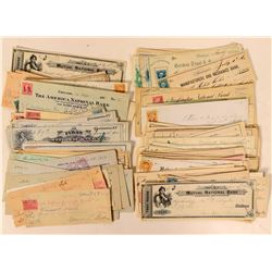 Nineteenth Century Checks with Revenue Stamps  (112110)