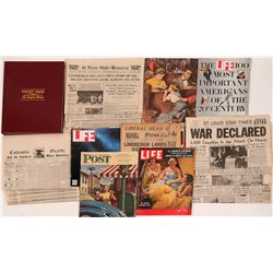 Newspapers, and Los Angeles times Front Page headlines book    (112362)