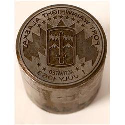 Fort Wainright Commemorative Medal Die  (112160)