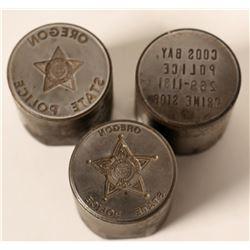 Oregon  Police Commemorative Medal Dies (3)  (110461)