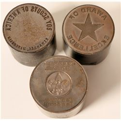 Boy Scout Related Commemorative Dies (3)  (110464)