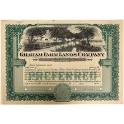 Graham Farm Lands Company Stock - with killer vignette!  (110921)