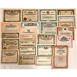 California Non-mining Stock Certificate Collection - with real treasures!  (109179)