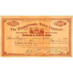 Pennsylvania Town Company Stock  (112034)
