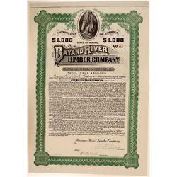 Bayano River Lumber Company Bond, Maine, 1909  (111340)