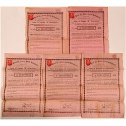 East St. Louis Land Company, Limited Bonds (5)  (107869)