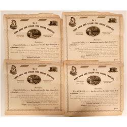 Hope Hose and Steam Fire Engine Company No. 2 Bonds, 1859,   (109177)