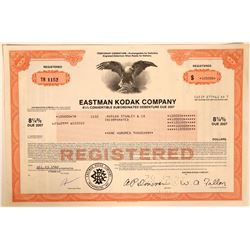 Eastman Kodak Stock Certificate  (110911)