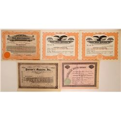 Newspaper related Stock Certificates  (110902)