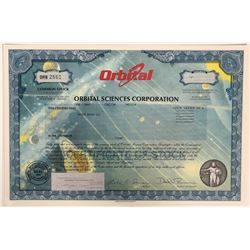 Orbital Sciences Stock Certificate; bright colorful, celebrating women in space  (110919)
