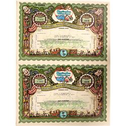 Ringling Bros. - Barnum & Bailey Stock Certificates - The most Ornate You will Find  (110923)