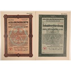 Two German Bonds from 1925  (112237)