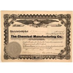 Chemical Manufacturing Company Stock, Los Angeles assay related  (110900)