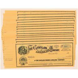 Gavilan Mining & Milling Company Stock Certificates  (110947)