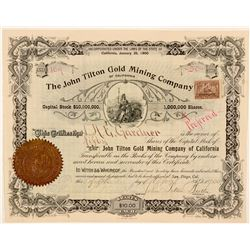 John Tilton Gold Mining Co of California Stock  (111373)