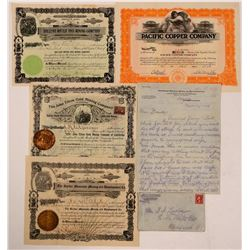 San Diego County Mining Stock Certificate Group  (107881)