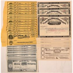 Nice Collection of California and Idaho  Unissued Mining Stock Certificates  (110948)