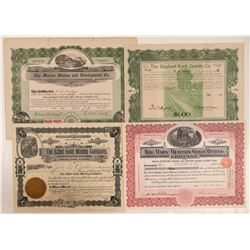 Four Chaffee County, Colorado Mining Stock Certificates  (107848)