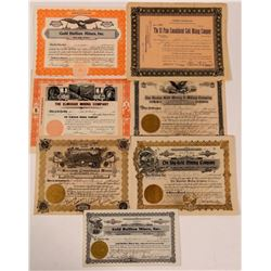 Seven Different Cripple Creek Mining Stock Certificates   (107852)