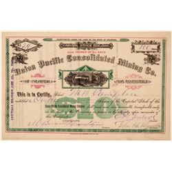 Union Pacific Consolidated Mining Company Stock - RARE Leadville  (112036)