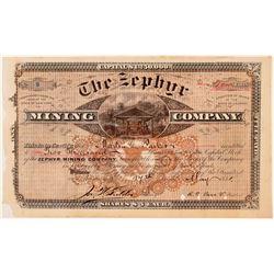 Zephyr Mining Company Stock Certificate - Intricate Design  (110957)