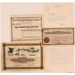 Miscellaneous Mining Stock Certificate Trio: Colorado, Nevada, & Virginia  (107805)