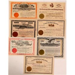 Seven Different Colorado Mining Stock Certificates   (107862)
