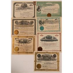 Seven Different Colorado Mining Stock Certificates   (107847)