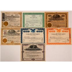 Seven Different Colorado Mining Stock Certificates   (107846)