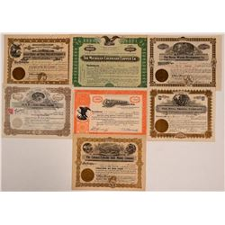 Seven Different Colorado Mining Stock Certificates   (107849)