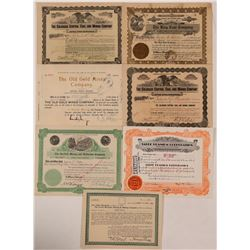Seven Different Colorado Mining Stock Certificates   (107845)