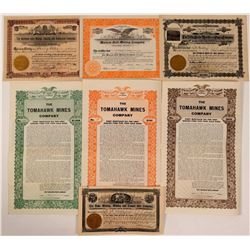 Seven Different Colorado Mining Stocks & Bonds  (107844)