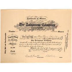 Talapoosa Company Stock Certificate  (105961)