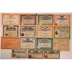 15 Different Nevada Mining Stock Certificates  (107835)