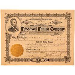 Massasoit Mining Company Stock, Utah, 1905  (111390)