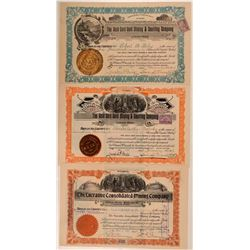 Three Cheyenne, Wyoming Mining Stock Certificates  (107875)