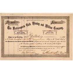 Badiraguato Gold Mining & Milling Company Stock Certificate  (107793)