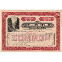 Denver & Rio Grande Railroad Co Stock Certificate  (111236)