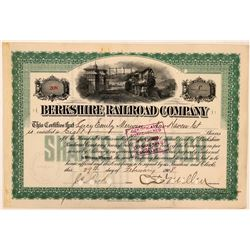 Berkshire Railroad Co Stock Certificate Signed by Charles S. Mellon  (111237)