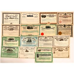 17 Different Unissued Chicago Railroad Certificates  (111101)