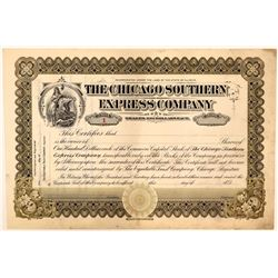 Chicago Southern Express Co Stock Certificate #1  (111129)